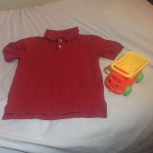 Boy's red polo